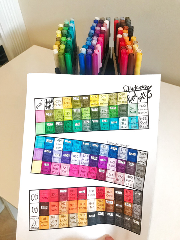 Tombow Markers Blank Color Chart Photos Chart In The Word