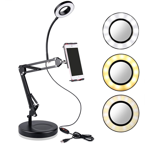 Cell phone arm with halo light | Vide supplies | Life by Whitney