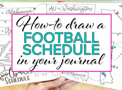 How to Draw a Sports Schedule in your Bullet Journal