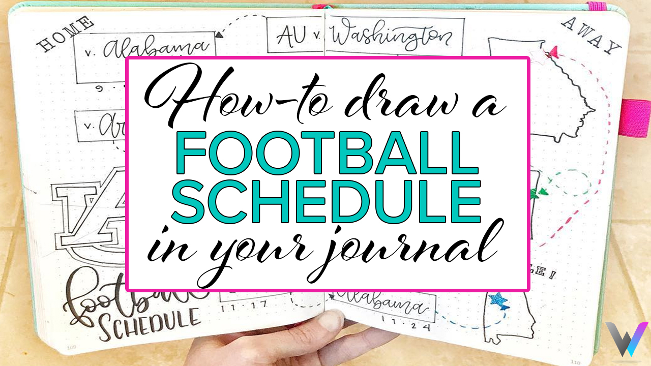 Draw a football Schedule in your Bullet Journal