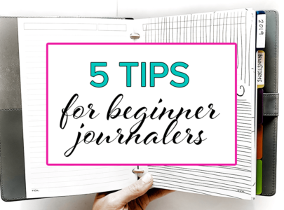 5 Tips for Beginning Your Journal